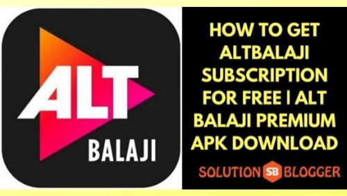 How to Get AltBalaji Subscription for FREE _ Premium Account & APK
