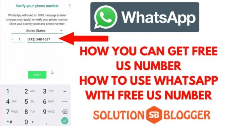 How to Get Free US Number Use Whatsapp with US Number