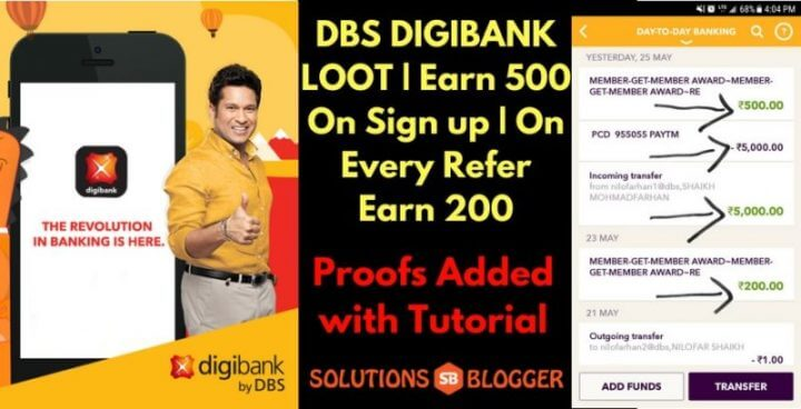 All about DBS DigiBank Loot Earn 500 on Signup and 200 on refer (1)
