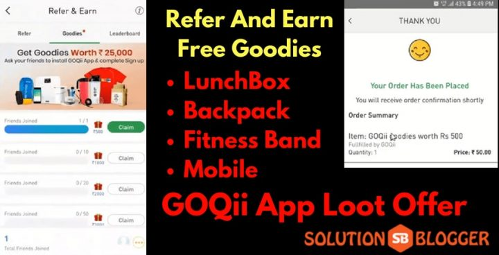 Refer and Earn GOQii app