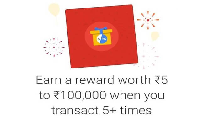 Google Tez Pay *1st Anniversary* Offer