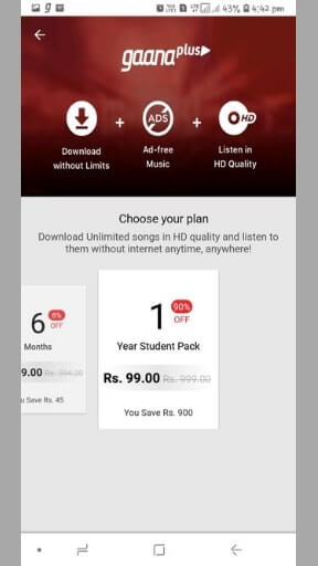Gaana Plus Subscription For Free | Gaana+ Offer 99 RS Trick