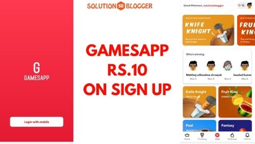 Gamesapp Loot Get Rs.10 On Sign Up-min