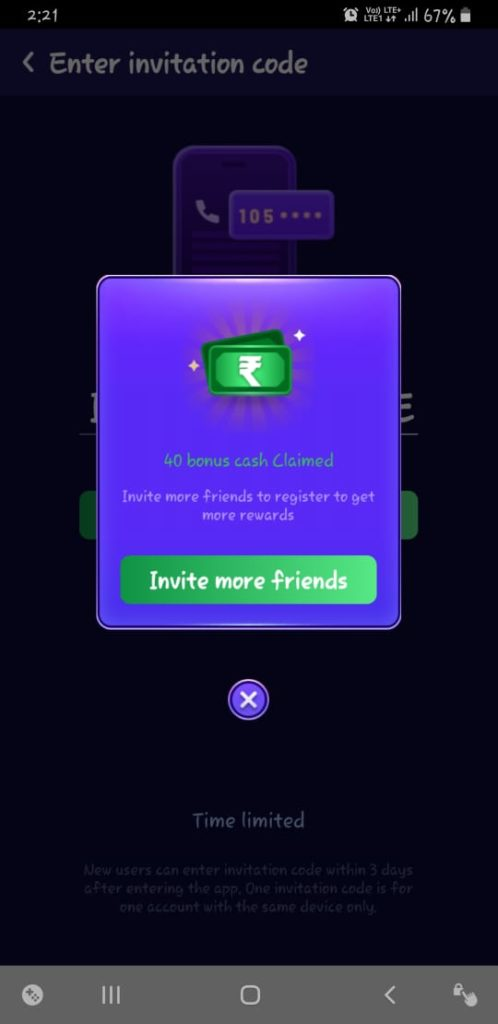 How to enter Invitation Code?