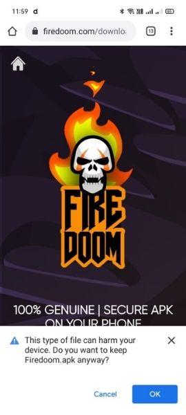 Firedoom gaming app